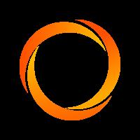 Polyester band 25 mm oranje zonder strepen GA>