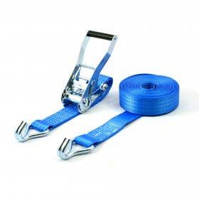 spanband 4 ton 9 meter blauw met spitshaken>