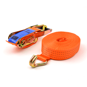 spanband 4 ton 9 meter oranje met spitshaken>