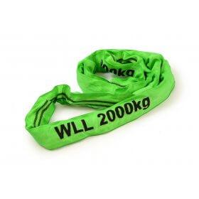 Rundschlinge 2 Tonnen, Grün - 0,5 bis 10 meter>