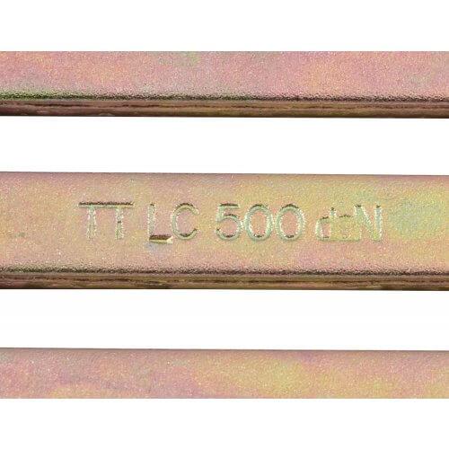 Schuifgesp - Yellow zinc 41mm GA