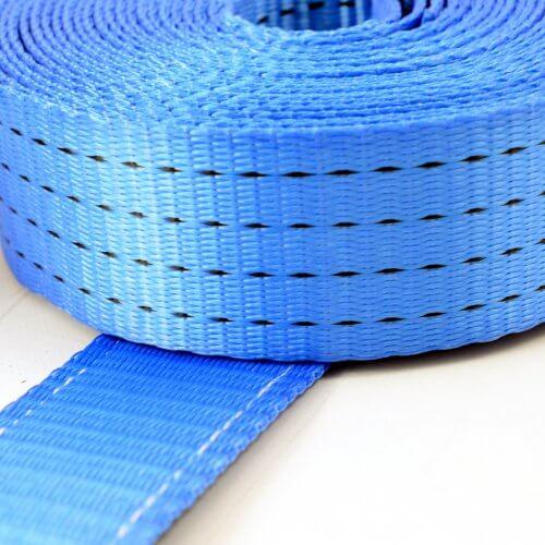 Spanband 50mm - 2-delig met spitshaken - 8,5m+0,5m - 4 ton - wit verzinkt - blauw MB