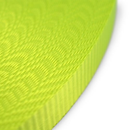 Fluorescerende polyester band 25 mm